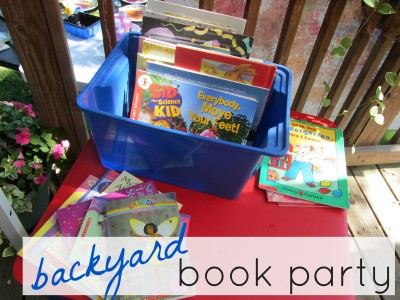 summer reading, backyard book party