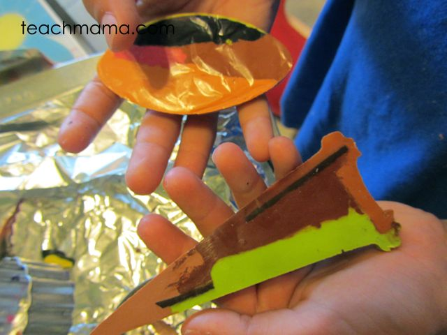crayon melt craft for kids