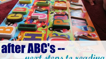 what to do after kids learn their abc's: next steps to reading