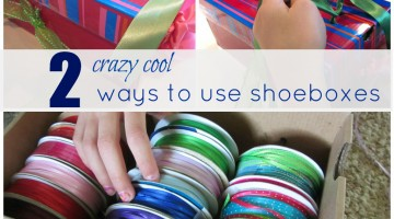 two ways to use shoeboxes