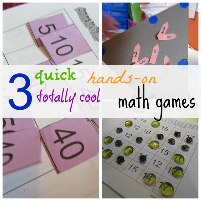 3 hands-on math games