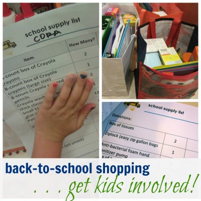 back to school shopping with kids