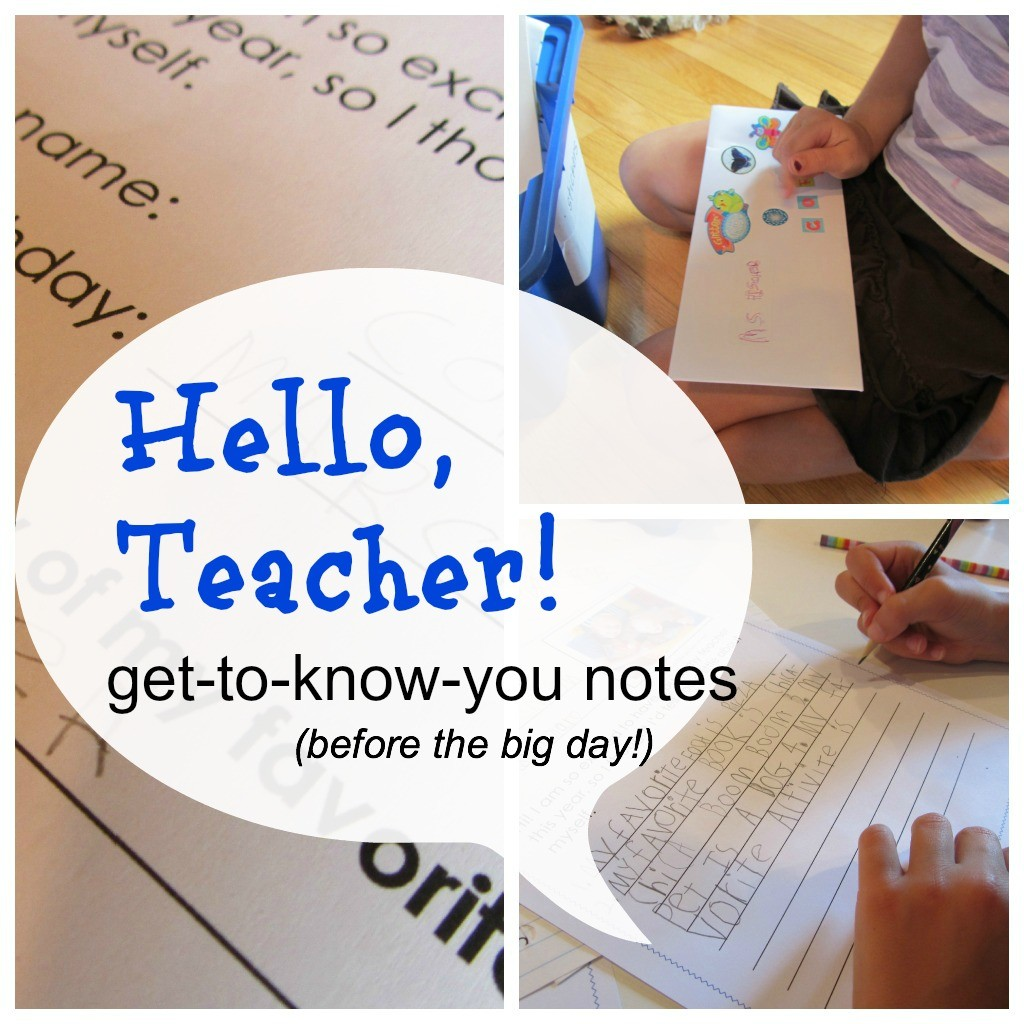 hello teacher notes