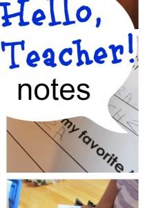 hello teacher notes