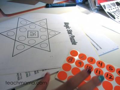 magic star puzzle