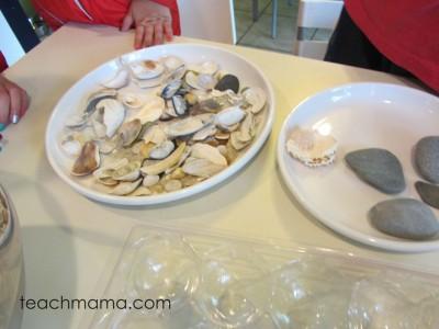 seashell craft: salt dough pretties