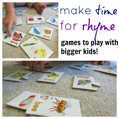 make time to rhyme: rhyme games for bigger kids