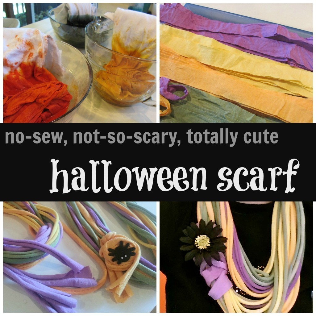no-sew, not-so-spooky, totally cute halloween scarf