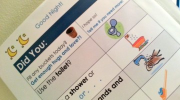 morning and evening reminders for kids: easy reader style