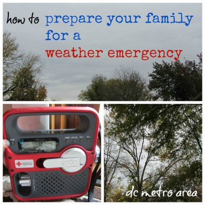 prepare your family for weather emergency