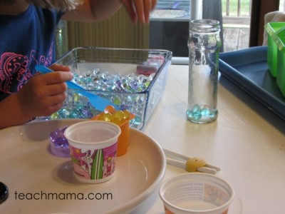 water bead free play