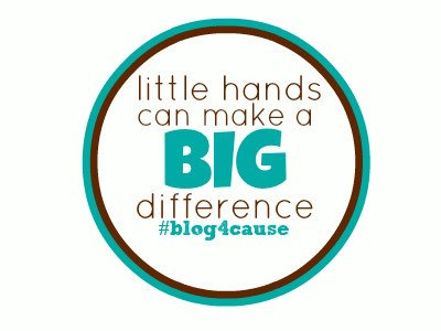 teach your children about giving: #blog4cause