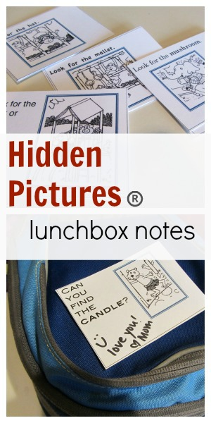 hidden pictures lunchbox notes