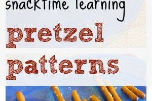 pretzel patterns learning during snacktime