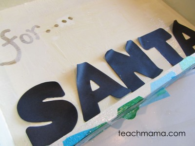 sweet homemade santa cookie tray --letters