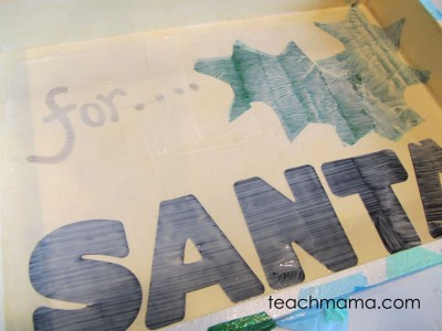 sweet homemade santa cookie tray--full cover
