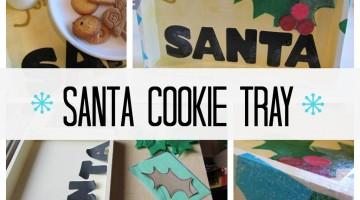 sweet homemade santa cookie tray