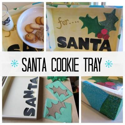 santa cookie tray