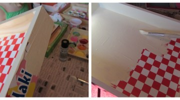 sweet homemade santa tray step 1--paint