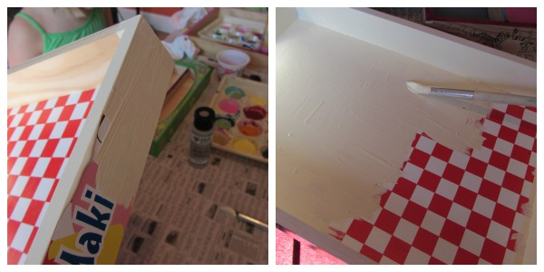 sweet homemade santa tray step 1--paint