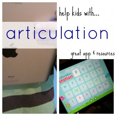 help kids with articulation