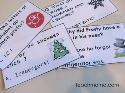 holiday joke notes & fun facts