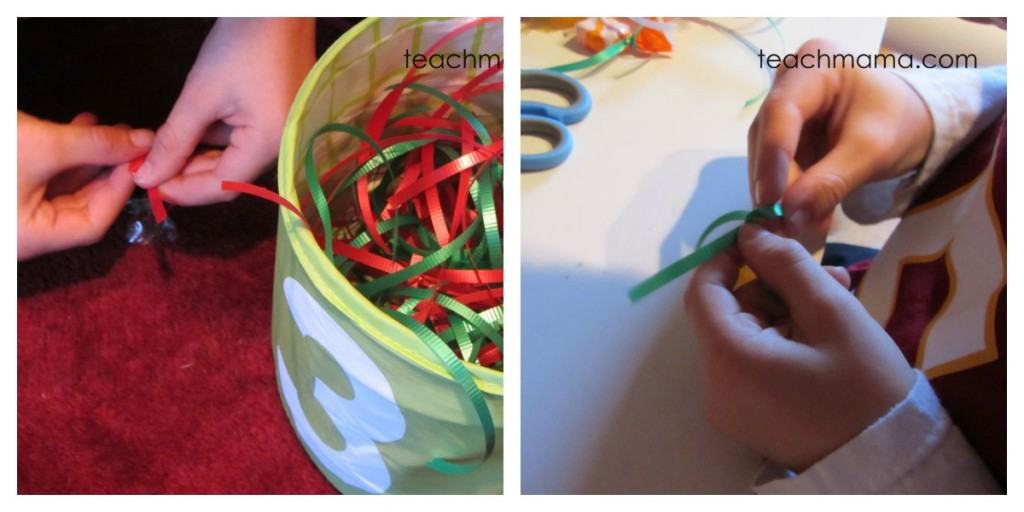 how to make a candy wreath tie candy
