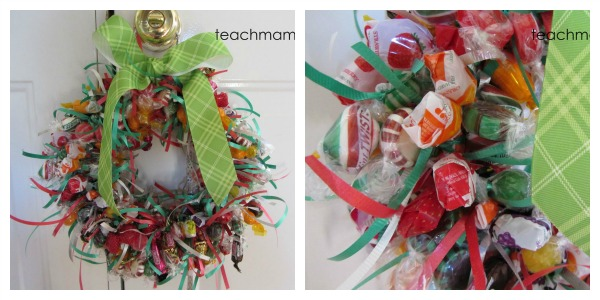 how to make a candy wreath wreath