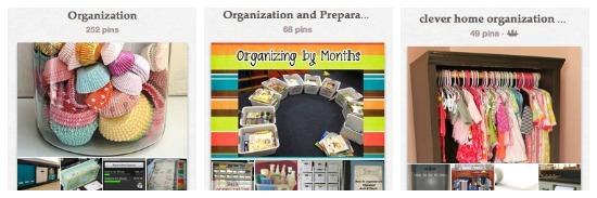 pinterest organizing home