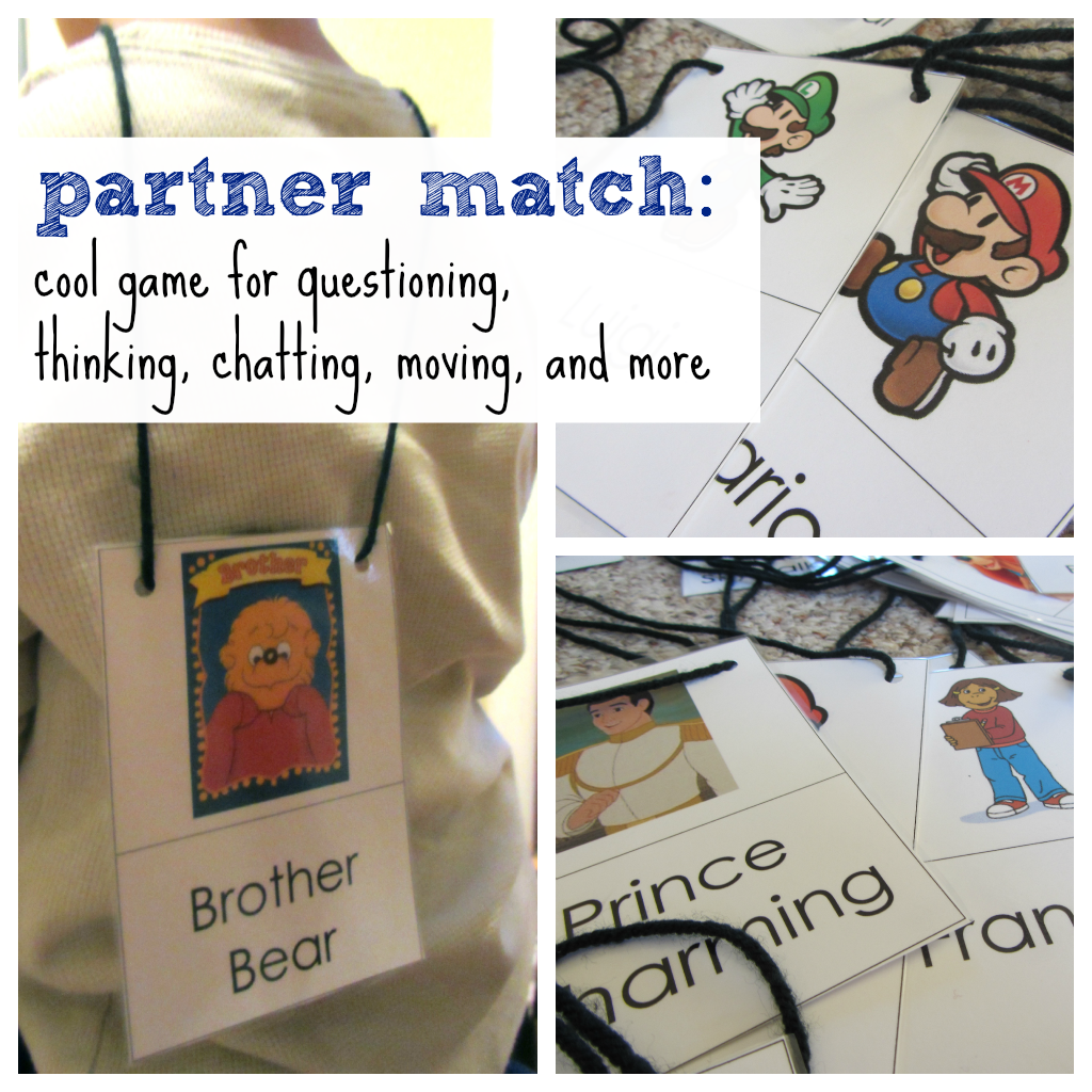 partner match: cool game for questioning, thinking, chatting, moving, and more