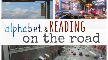 alphabet and reading on the road