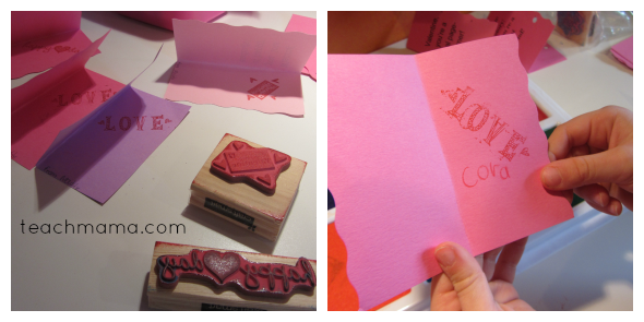 bookmark valentines stamp cora