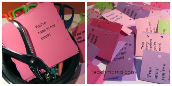homemade bookmark valentines supplies