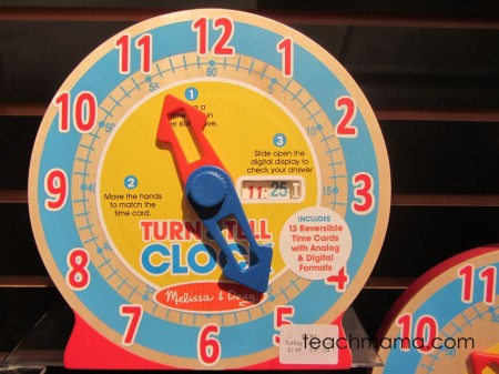 toy fair melissa & doug clock
