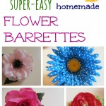 beautiful homemade flower barrettes