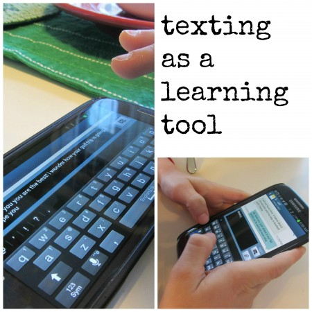 texting as a learning tool