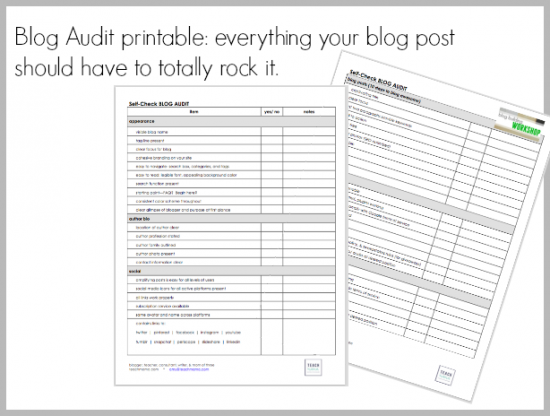 blog audit checklist | teachmama.com