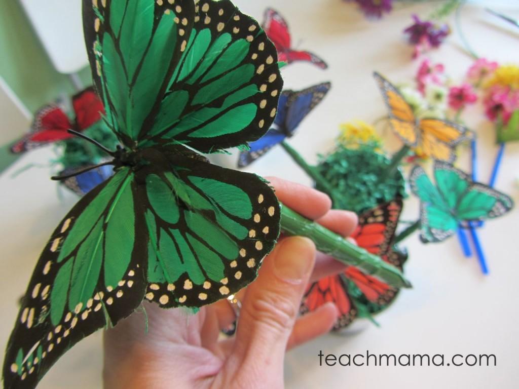 butterfly pen--green butterfly on pen