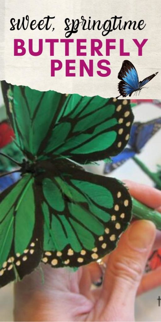 butterfly pens--easy to make