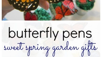 how to make butterfly pens: a sweet spring garden gift