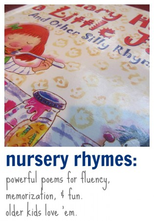 nursery rhymes: powerful poems for fluency and more