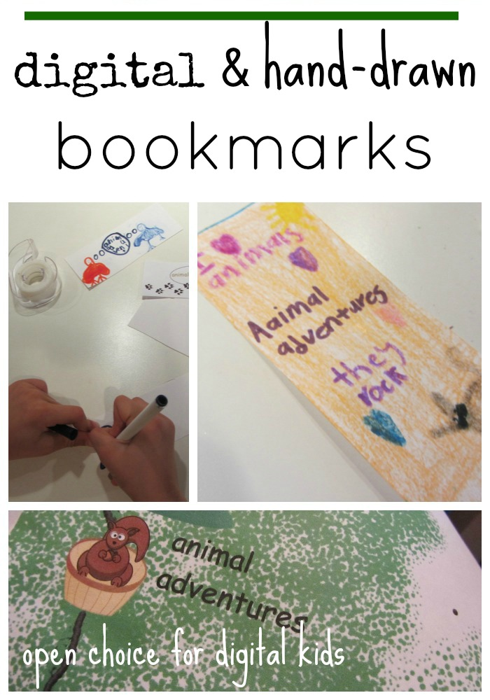 digital and hand drawn bookmark designs