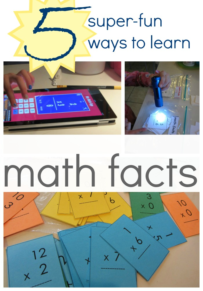 fun ways to practice math facts
