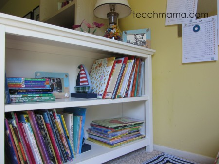 our book nook finished