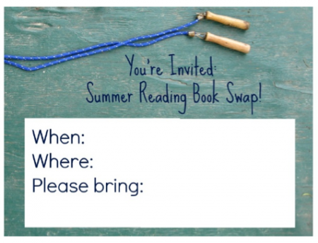 summer reading book swap invite
