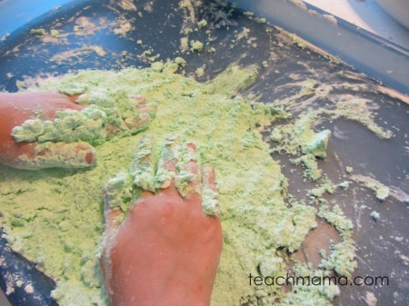 homemade foam dough