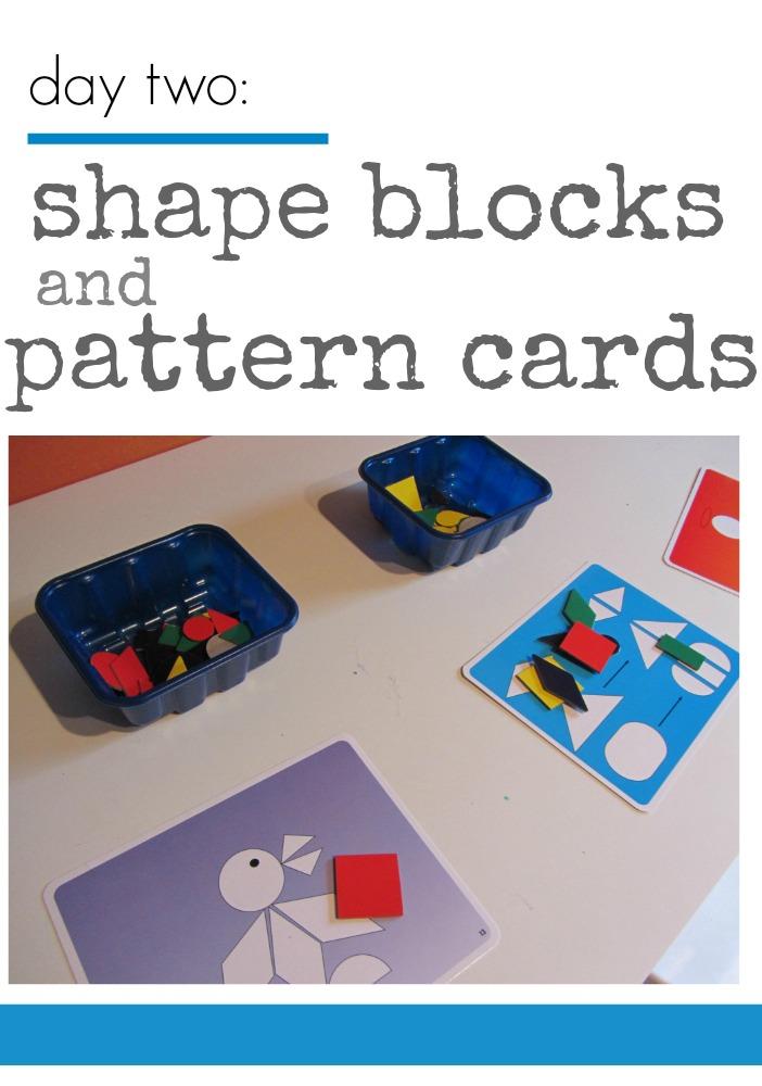 tabletop surprises shape blocks pattern cards