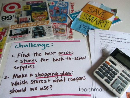 back to school price shopping tabletop surprise