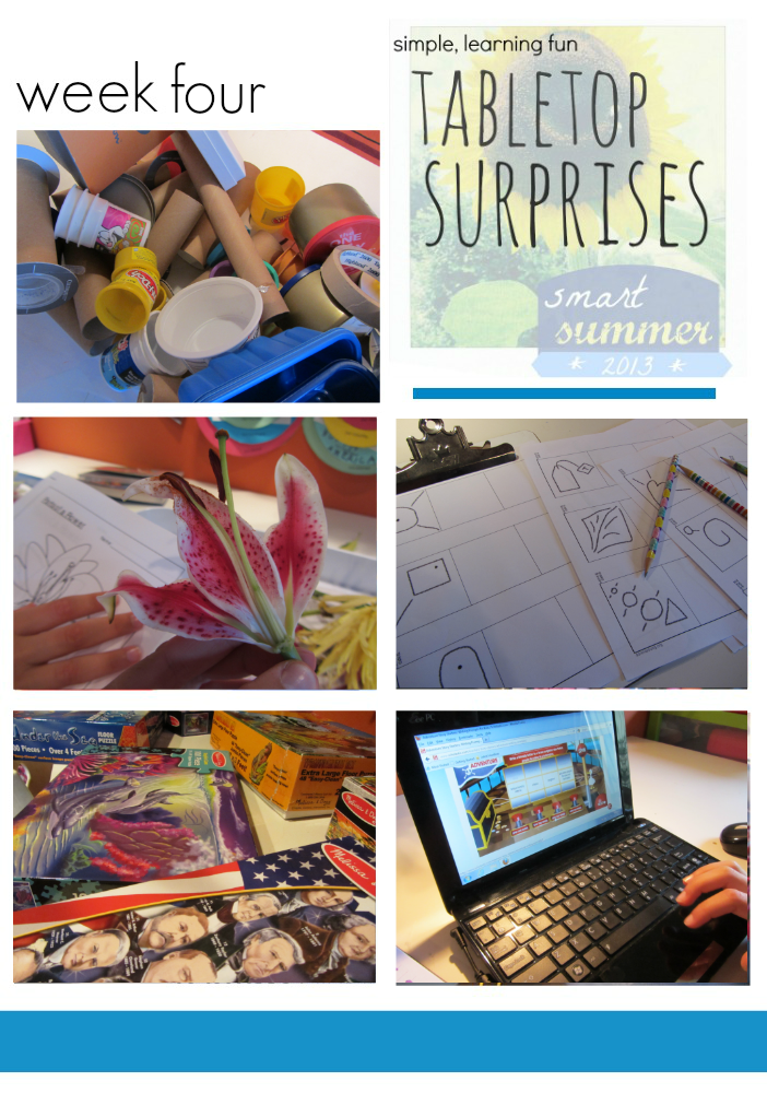 creative hands-on learning for kids: tabletop surprises
