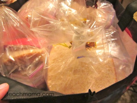 making sandwiches for homeless -